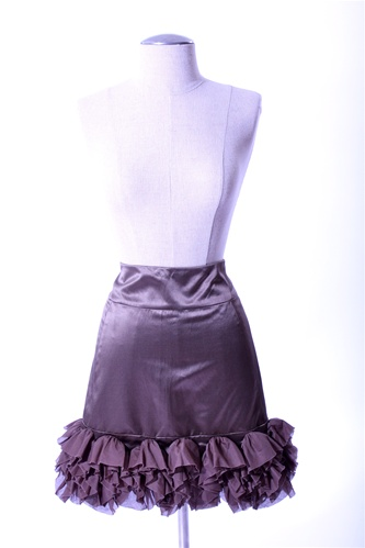 "BROWN REISS RUFFLE SKIRT: <strike> $58 </strike> <font color=""red""> $40 </font>"